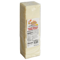 5 lb. Pre-Sliced 120 Count White American Cheese - 4/Case