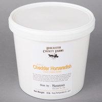 Lancaster County Farms 5 lb. Yellow Cheddar Horseradish Cream Cheese Spread - 2/Case