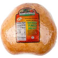 John F. Martin & Sons 9 lb. Hickory Smoked Turkey Breast - 2/Case