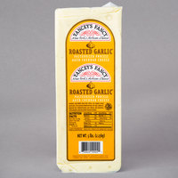 Yancey's Fancy 5 lb. Roasted Garlic Flavored New York Cheddar Cheese - 2/Case