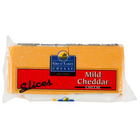 Great Lakes Cheese 1.5 lb. Yellow Mild Cheddar Cheese Slices - 6/Case