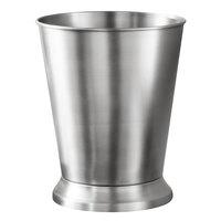 Pewter Veil Collection Brushed Stainless Steel 9 Qt. Pedestal Wastebasket