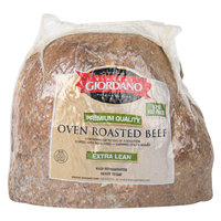 Vincent Giordano 5 lb. Extra Lean Oven Roasted Beef - 2/Case