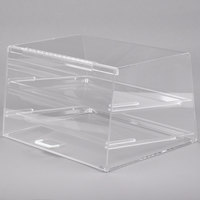 Cal-Mil 255 Classic Two Tier Acrylic Display Case with Rear Door - 19 inch x 15 inch x 11 inch