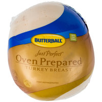 Butterball Just Perfect 10 lb. Oven Prepared Skinless Turkey Breast - 2/Case