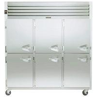 Traulsen G31003 3 Section Half Door Reach In Freezer - Left Hinged Doors