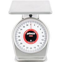 Rubbermaid FG840SW Pelouze 40 lb. Dishwasher Safe Portion Scale - 9 inch x 9 inch Platform