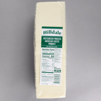 Hilldale 5 lb. Pack 120-Count Pre-Sliced White American Cheese   - 6/Case