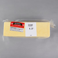 Old Quebec Vintage Cheddar 3 Years Aged Super Sharp Cheddar Cheese 5 lb. Solid Block - 2/Case