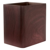 Hamilton Collection Wood Grain Resin 10 Qt. Wastebasket