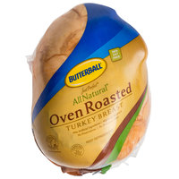 Butterball Just Perfect 8 lb. All Natural Oven Roasted Skinless Turkey Breast - 2/Case