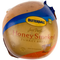 Butterball Just Perfect 9 lb. Honey Smoked Skinless Turkey Breast - 2/Case