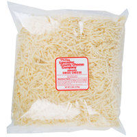 Phillips Lancaster County Cheese Company 5 lb. Shredded Swiss Cheese - 6/Case