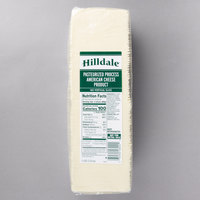 Hilldale 5 lb. Pack 160-Count Pre-Sliced White American Cheese   - 6/Case