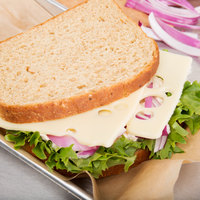 Guernsey's Gift Sandwich Cut Swiss Cheese 8 lb. Solid Block - 6/Case
