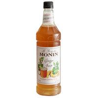 Monin 1 Liter Premium Ginger Beer Flavoring Syrup