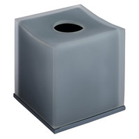 Smoke Collection Matte Resin Square Tissue Box Cover with Bottom