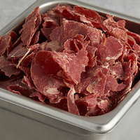Knauss Foods 3 lb. Sliced Dried Beef Chips - 8/Case