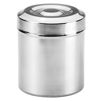 Basic Collection Polished Stainless Steel Round Cotton Storage Container