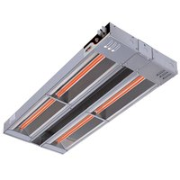 APW Wyott FDDL-42H-T 42 inch High Wattage Lighted Calrod Double Food Warmer with Toggle Controls - 120V, 2360W
