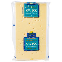 Great Lakes Cheese Domestic Natural Swiss Cheese 12 lb. Solid Block - 2/Case