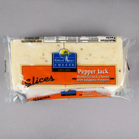 Great Lakes Cheese 1.5 lb. Pepper Jack Cheese Slices - 6/Case