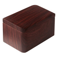 Hamilton Collection Wood Grain Resin Cotton Storage Container