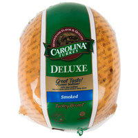 Carolina Turkey Deluxe 10 lb. Smoked Skinless Turkey Breast - 2/Case