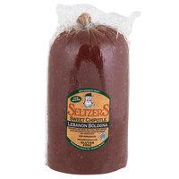 Seltzer's Lebanon Bologna Sweet Chipotle Bologna 4.5 lb. Half - 2/Case