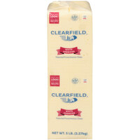 Clearfield White American Cheese Solid 5 lb. Block - 6/Case