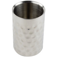 Tablecraft R37 Bali Round Double Wall Stainless Steel Wine Cooler - 4 3/4 inch x 7 1/4 inch