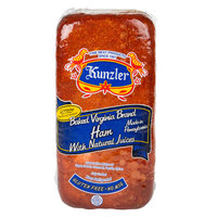 Kunzler 11 lb. Baked Virginia Brand Ham - 2/Case