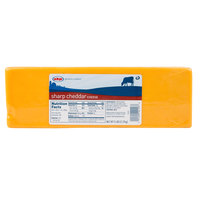AMPI 5 lb. Yellow Sharp Cheddar Cheese - 2/Case