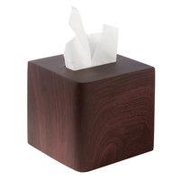 Hamilton Collection Wood Grain Resin Square Tissue Box Cover