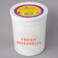 Antonio Mozzarella Factory 4 oz. Fresh Mozzarella Ovoline Balls 3 lb. Tub - 2/Case