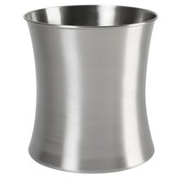 Premier Collection Brushed Stainless Steel 11 Qt. Wastebasket