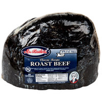 Mrs. Ressler's 7 lb. Top Round Medium Cooked Roast Beef - 2/Case