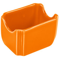 Homer Laughlin 479325 Fiesta Tangerine 3 1/2 inch x 2 3/8 inch Sugar Caddy - 12/Case