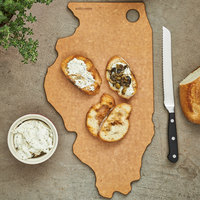 Epicurean 032-IL0102 15 inch x 9 inch x 1/4 inch Natural Richlite Wood Fiber Illinois Cutting and Serving Board
