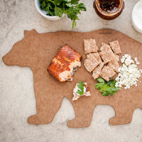 Epicurean 032-BEAR0301 Novelty Series 16 1/2 inch x 10 inch x 1/4 inch Nutmeg Richlite Wood Fiber Bear Shaped Cutting and Serving Board