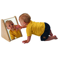 Whitney Brothers WB2112 9 1/2 inch x 8 1/4 inch x 11 1/2 inch Infant Mirror Stand