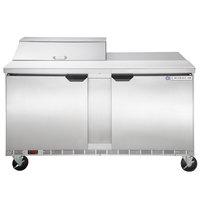 Beverage-Air SPE60HC-08 Elite Series 60 inch 2 Door Refrigerated Sandwich Prep Table