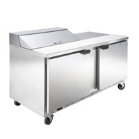 Beverage-Air SPE60HC-08 Elite Series 60 inch 2 Door Refrigerated Sandwich Prep Table