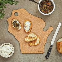 Epicurean 032-WI0102 12 inch x 12 inch x 1/4 inch Natural Richlite Wood Fiber Wisconsin Cutting and Serving Board