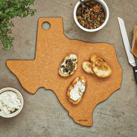 Epicurean 032-TX0102 14 inch x 13 inch x 1/4 inch Natural Richlite Wood Fiber Texas Cutting and Serving Board