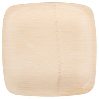 Bambu 063100 7 inch Disposable Square Bamboo Plate   - 100/Box