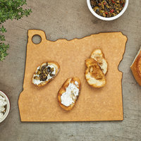 Epicurean 032-OR0102 12 inch x 10 inch x 1/4 inch Natural Richlite Wood Fiber Oregon Cutting and Serving Board
