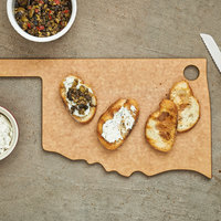 Epicurean 032-OK0102 17 inch x 8 inch x 1/4 inch Natural Richlite Wood Fiber Oklahoma Cutting and Serving Board