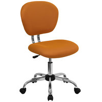 Flash Furniture H-2376-F-ORG-GG Mid-Back Orange Mesh Office Chair with Chrome Base