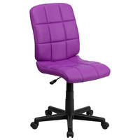 Flash Furniture GO-1691-1-PUR-GG Mid-Back Purple Quilted Vinyl Office Chair / Task Chair